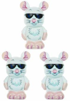 "Three Blind Mice (~1.5"" Each) - Disney Vinylmation ~3"" Nursery Rhymes Series Designer Figure by Disney Theme Park"