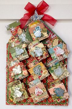 Gorgeous Twelve Days of Christmas pockets by Yumi Muraeda. #graphic45 #handmadeholidays