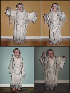 A Homemade Ghost Costume For Kids                                                                                                                                                     More