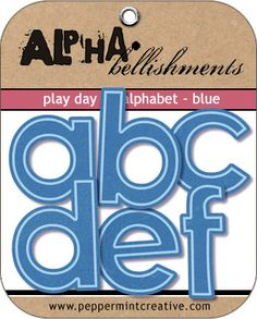 Play Day Alphabet - Blue | #digital #kids #scrapbook