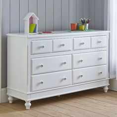 White Nz Pine 7 Drawers Change Table Dresser Chest Of Draw Cabinet