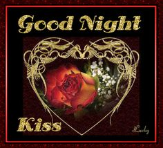 Good Night Kiss night animated graphic good night good evening good night greeting good night quote