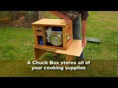 Ultimate Camping Chuck Box - YouTube. I can make this myself and customize it!