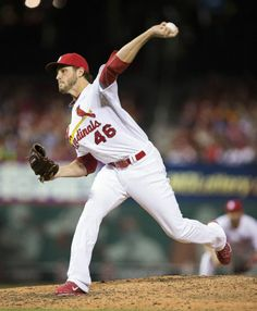 Kevin Siegrist delivers a pitch in the seventh inning of a game against the Pittsburgh Pirates. Cards won 1-0. 4-25-14