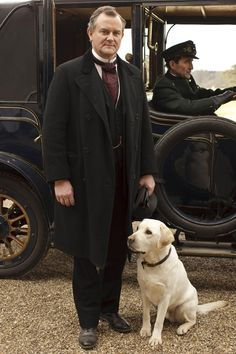 Downton Abbey ~ Finally! A great picture of the lord of the manor.
