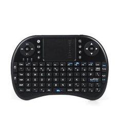 a mini wireless keyboard teclado ergonomico con touchpad wifi 24 ghz usb