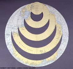 Robert Smithson Untitled Circular Map 1968-1970