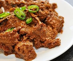 BlackBeef DryCurry  (inspired by black beef nasi kandar by Chef Ismail)  Serves 5-6 people  Ingredients:  1.5 kg diced beef  3 tbsps Malay...