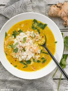 Coconut Lentil Soup Golden Coconut Lentil Soup is a light and fresh bowl with vibrant turmeric and a handful of fun toppings. Golden Coconut Lentil Soup is a light and fresh bowl with vibrant turmeric and a handful of fun toppings. Coconut Lentil Soup, Vegan Lentil Soup, Lentil Soup Recipes, Vegetarian Recipes, Cooking Recipes, Healthy Recipes, Vegan Meals, Lentil Dishes, Vegetarian Dinners