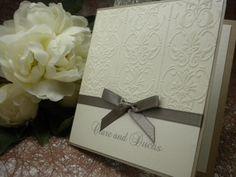 Regal (Hand Made) wedding invitation
