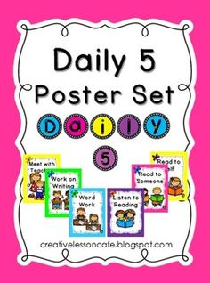 Follow for Free 'too-neat-not-to-keep' literacy tools & fun teaching stuff :)\ .......Daily Five Poster Set {Freebie}