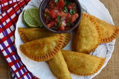 Columbian Empanadas... I had something similar to this at Cafe Brazil in Dallas, except they had gravy on them! I still can't get that great flavor out of my mind!