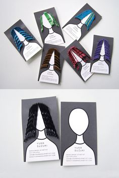 Hairpin business card by Studio Kudos
