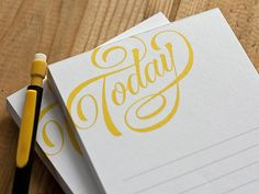Today #Notepad - Dave Foster | #typography - 'I actually adore this, it made my stomach do a little flip of happiness.'