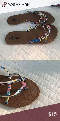really cute Volcom flip flops multicolor volcom flip flops Volcom Shoes Sandals
