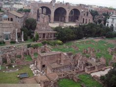Rome, Italy the roman forum from above.