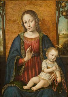 """Ambrogio da Fossano detto il Bergognone""""Madonna con il Bambino"""""""