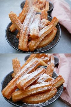 Churros – spanskrør An easy recipe for homemade cane, such as the one you can buy in Tivoli or in the market. They are as delicious as dessert or as an afternoon project. Sweet Recipes, Cake Recipes, Snack Recipes, Dessert Recipes, Desserts, Churros, Food Porn, Food Inspiration, Love Food
