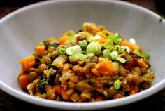 Curried Lentils and Sweet Potatoes
