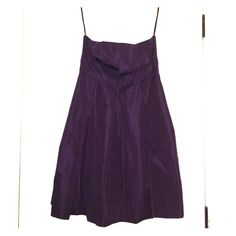 Beautiful, plum, pleated strapless dress Looking for a Valentine's Day or homecoming dress?? Enjoy this beautiful, plum (dark, rich purple) pleated, strapless dress. Material is thick enough where you may not have to wear a bra with it. Never worn, perfect condition! Moda International Dresses Strapless