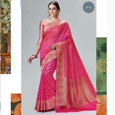 indian designer wedding party bollywood pakistani saree blouse silk sari for eid #Handmade #sareesari #Festive