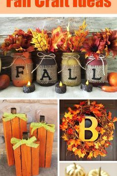 Over 50 Of The Best Diy Fall Craft Ideas Everything From Homemade