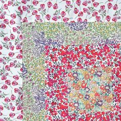 My daughter's quilt block! #quiltsos #quilt #libertylove #sewliberty #liberty…