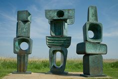 "The Family of Man by Barbara Hepworth, Snape Maltings, Suffolk  These bronze figures make for magnificent viewing: imposing, primeval, totemic, the poet Simon Armitage once described their block-like forms as ""full of beautiful possibility""."