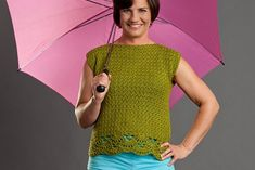Vernal Top by Jill Wright. Crochet jumper or tunic. 10 ply 200m/100g x 3-4. 4.25 & 5.0 & 5.5 mm hook. Crochet! Magazine Spring 2012. Saved to Evernote/ iBooks