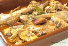 Recetas Monsieur Cuisine: Conejo al Ajillo Lidl, Tapas, Carne, Pork, Chicken, Meat, Rabbit Recipes, Oil, Beverages