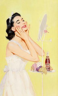 Wayne Blickenstaff Her Morning Regime, Pepsi-Cola advertisement, 1956