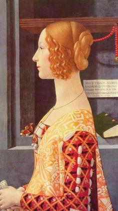 Portrait of Giovanna degli Albizzi Tornabuoni by Domenico Ghirlandaio. c1488/1490