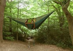 How cool is this? A tent in the air!