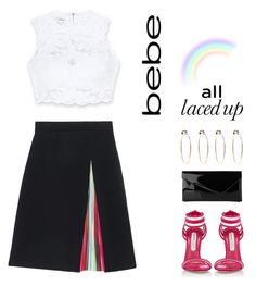 """""""All Laced Up for Spring with bebe: Contest Entry II"""" by susli4ek ❤ liked on Polyvore featuring Bebe, Mary Katrantzou, Marskinryyppy, L.K.Bennett and alllacedup"""