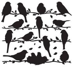 BIRDS Vinyl Wall Mural Art Deco Sticker Decal GS813