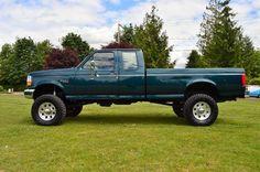 Big Ford Trucks, 4x4 Trucks, Diesel Trucks, 1995 Ford F150, F250 Ford, Toys For Boys, Boy Toys, Ford Powerstroke, Old Fords