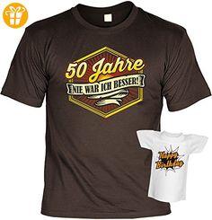 Geburtstagsgeschenk Geschenk zum Geburtstag T-Shirt 50 Jahre Nie war ich besser Geschenkidee für das Geburstagskind Shirt Leiberl Leiberl (*Partner-Link)