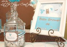 Brown and Blue Boy Baby Shower | CatchMyParty.com