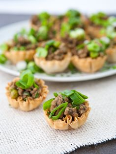 Mini Jamaican Beef Bites In Phyllo Shells | eclecticrecipes.com #appetizers #beef