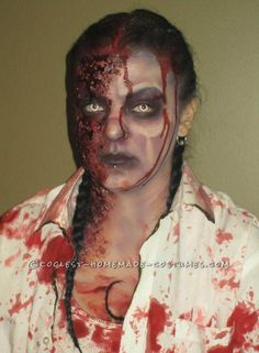 Diy zombie makeup how to make hideous wounds that last for hours horrifying diy firewoman zombie costumes for a couple solutioingenieria Images