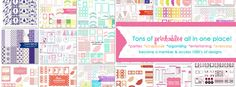 Printable Party Shop   tons of printables all in one place!   become a member to access 1000's of designs  www.printablepartyshop.com    @printablepartyshop