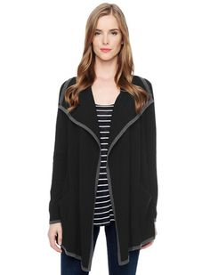 Effortlessly chic cardigan with contrast trim 	Perfect lightweight layer for the colder months 	Luxe cashmere for an irresistible hand