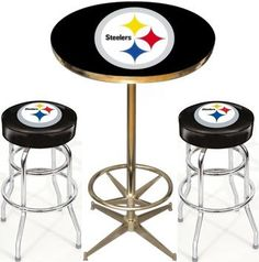 San francisco 49ers nfl 40in pub table homebar game room nfl pittsburgh steelers pub table set at sportsfansplus watchthetrailerfo