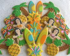 Hawaii theme cookies