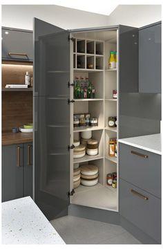 Kitchen Pantry Design, Modern Kitchen Design, Kitchen Interior, New Kitchen, Kitchen Storage, Kitchen Decor, Kitchen Ideas, Kitchen Organization, Organization Ideas