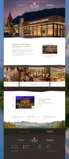 The Lodge Conference Centre at Jackson Hole Website Design by Agency Dominion