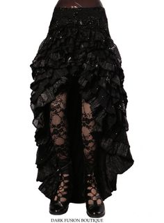 Ruffle Skirt YOUR SIZE & COLOR Cabaret by darkfusionboutique