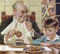 Le Goût, un de 5 sens - ©J.C. Leyendecker - 1874-1951