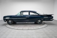 1959 Chevrolet Biscayne Police Pursuit, 348ci/305hp 4bbl W-head V8/3 on-the-tree HD manual trans/3.36 rear axle and HD suspension