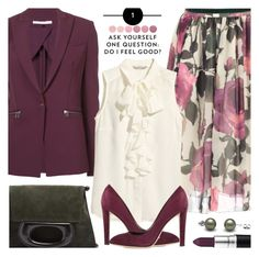 """Off to Work and Feeling Good!"" by brendariley-1 ❤ liked on Polyvore featuring Veronica Beard, Blugirl, Lemaire, H&M, Sergio Rossi and Deborah Lippmann"